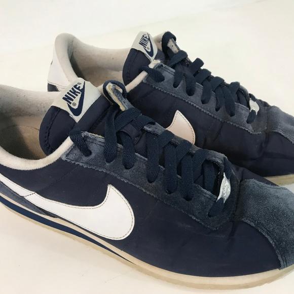 meet 99c94 a3ce1 Nike Cortez Mens Shoes Size 9 Blue Suede
